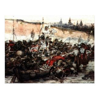 Conquista de Vasily Surikov- Yermak de Siberia Postales