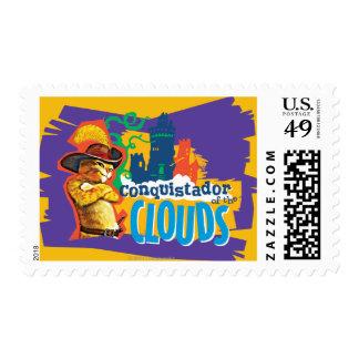 Conquistador de las nubes timbre postal
