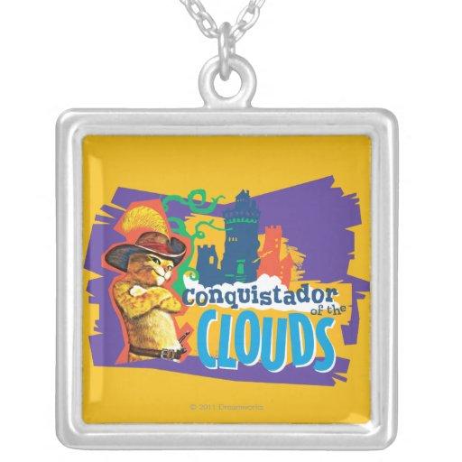 Conquistador of the Clouds Square Pendant Necklace