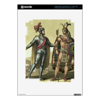 Conquistador with a Native American Chief (colour Decal For iPad 3