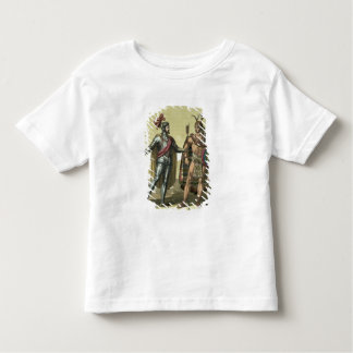 Conquistador with a Native American Chief (colour Toddler T-shirt
