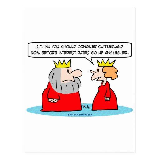 conquiste el alto de la reina del rey de los tipos tarjetas postales