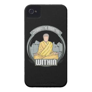 Conquiste la montaña dentro Case-Mate iPhone 4 funda