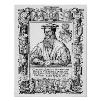Conrad Gesner Poster