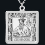 """Conrad Gesner Silver Plated Necklace<br><div class=""""desc"""">Swiss School&#39;s Conrad Gesner located at a Private Collection. The Conrad Gesner was created around the 16th century.</div>"""