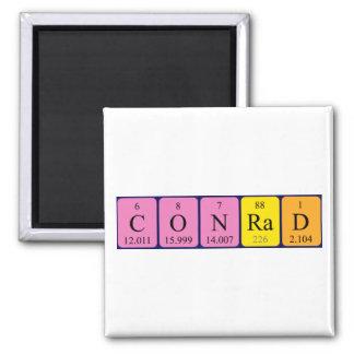 Conrad periodic table name magnet