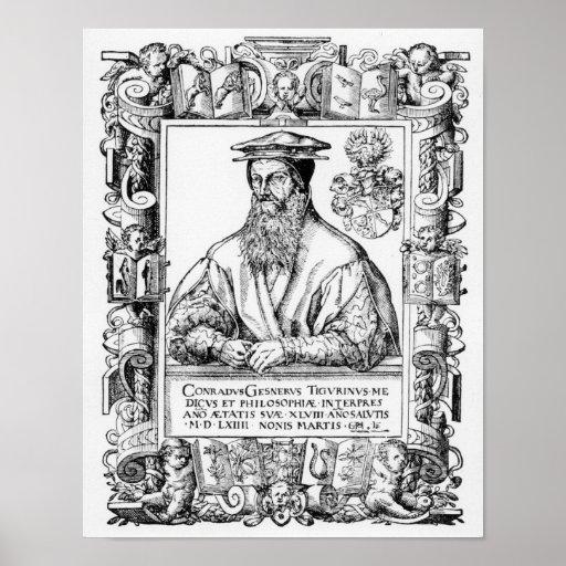 Conrado Gesner Poster