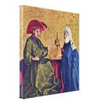 Conrado Witz - rey Solomon y reina de Sheba Impresiones En Lienzo Estiradas