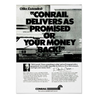 Conrail Delivers As Promised 1984 Poster