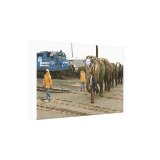Conrail Elephants on The March Canvas Print