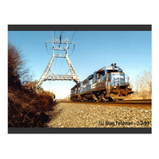 Conrail Engine 7741 at  Pencoyd PA Postcard