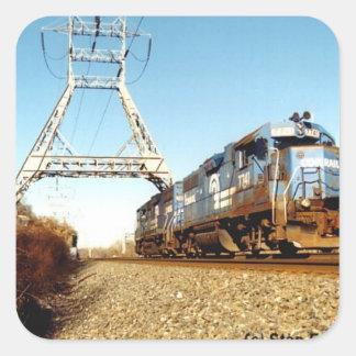 Conrail Engine 7741 at  Pencoyd PA Square Sticker