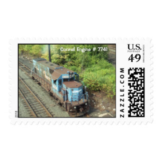 Conrail Engine 7741 at Pencoyd Penna Postage Stamp