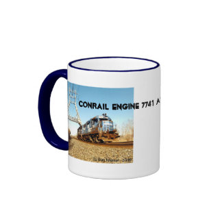 Conrail Engine 7741 at Pencoyd Penna Ringer Coffee Mug