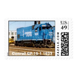 Conrail GP-15-1 #1633 en el Jct de Holmesburg. PA Sello