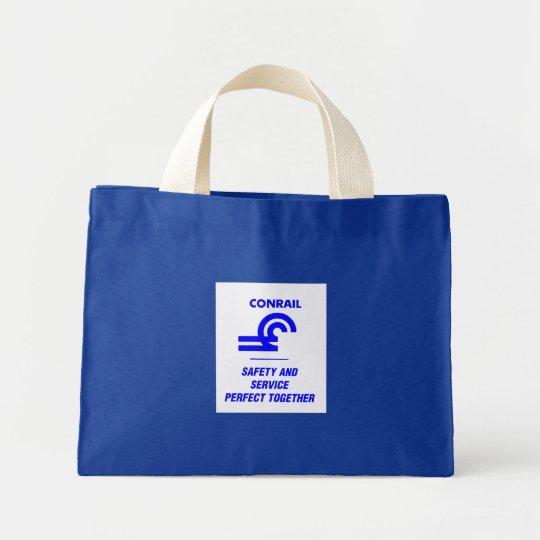 Conrail Logo Railroad Train Mini Tote Bag