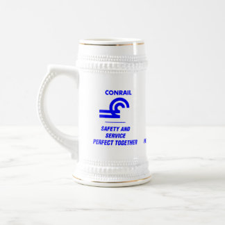 Conrail Logo Safety and Service Beer Stein