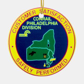 Conrail Philadelphia Division Round Ornament