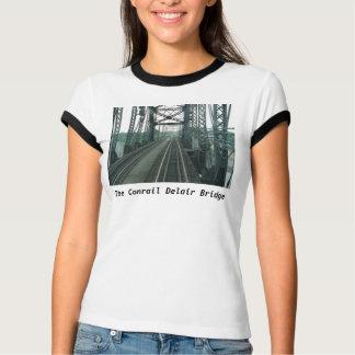 Conrail (PRR) Delair Railroad Bridge Ladies Ringer Tee Shirt