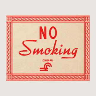 Conrail Railroad No Smoking Sign