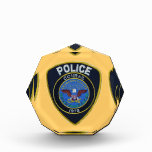 Conrail Railroad Police Patch Acrylic Award