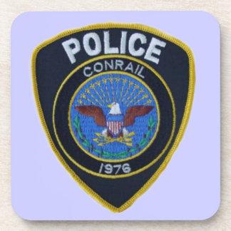Conrail Railroad Police Patch Cork Coasters