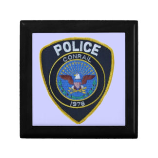 Conrail Railroad Police Patch GiftBox Keepsake Box