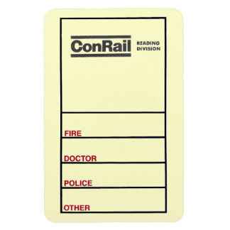 Conrail Reading Division 1976 Flexi Photo Magnet