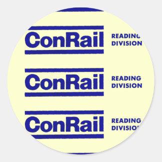 Conrail Reading Division 1976 Round Stickers
