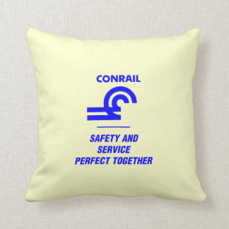 Conrail Safety and Service Perfect Together Throw Pillow