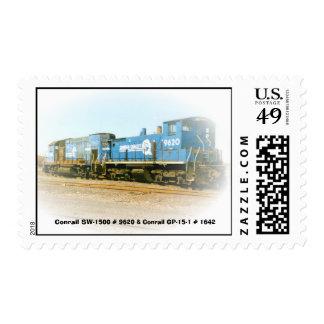 Conrail SW-1500 # 9620 and Conrail GP-15-1 # 1642 Postage