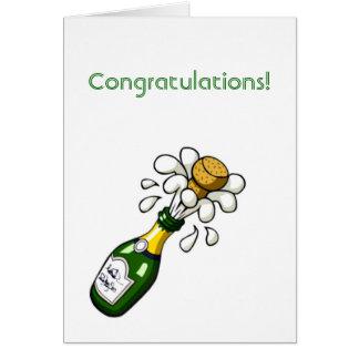 Conratulations con el corcho que hace estallar de  felicitaciones
