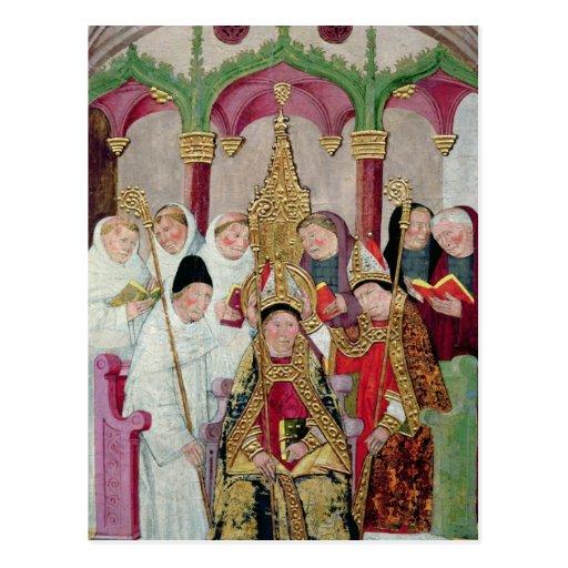 Consagración de un obispo, escuela valenciana postales