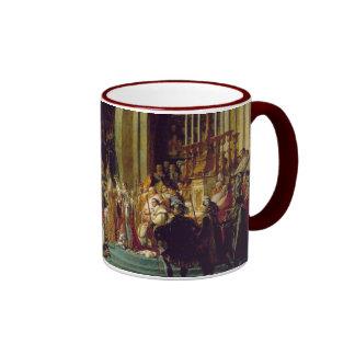 Consagración del emperador Napoleon l Tazas De Café
