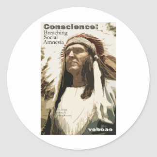 Conscience: Breaching Social Amnesia Classic Round Sticker