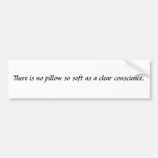conscience. bumper sticker