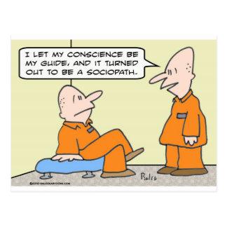 conscience guide sociopath prisoner postcard