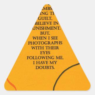conscience triangle sticker