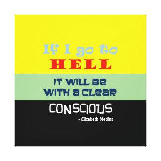 """~ consciente 24x24 1,5"""" del infierno densamente lienzo envuelto para galerías"""