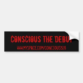 Consciente el principio, www.myspace.com/concious5 pegatina para auto
