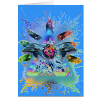 consciouness cristalino del delfín tarjeta de felicitación