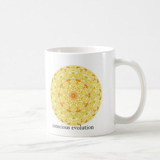 conscious evolution t-shirt coffee mug
