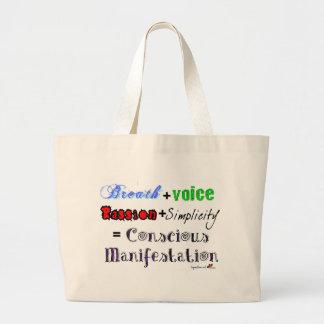 Conscious Manifestation Canvas Bag