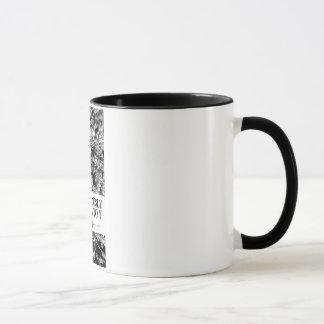 Consciously Numb, A To Y 11oz Black Ringer Mug