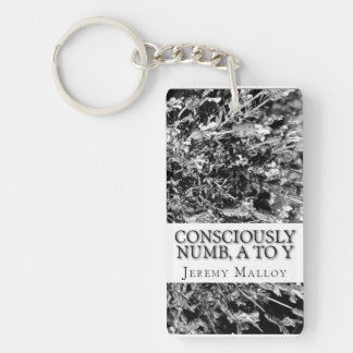 Consciously Numb, A To Y Rectangle Keychain