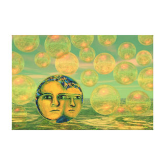 Consciousness – Gold and Green Awakening Canvas Print