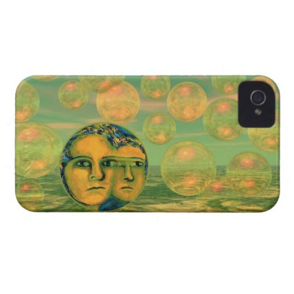 Consciousness – Gold and Green Awakening iPhone 4 Case-Mate Cases