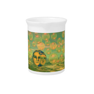 Consciousness – Gold and Green Awakening Drink Pitcher