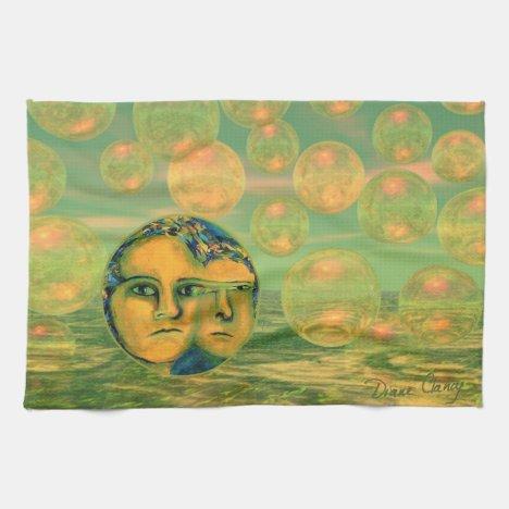 Consciousness – Gold and Green Awakening Hand Towel