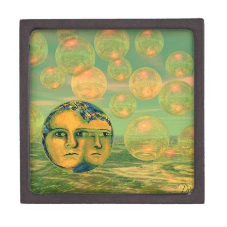 Consciousness – Gold and Green Awakening Keepsake Box